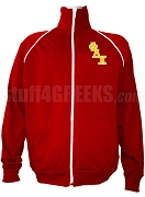 Phi Delta Chi Men's Logo Letter Track Jacket, Red