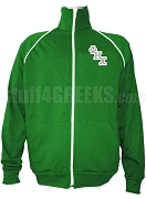 Phi Eta Chi Men's Logo Letter Track Jacket, Kelly Green