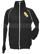 Phi Eta Sigma Ladies Logo Letter Track Jacket, Black