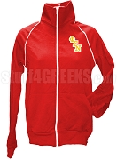 Phi Gamma Nu Ladies Logo Letter Track Jacket, Red