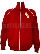 Phi Gamma Nu Men's Logo Letter Track Jacket, Red