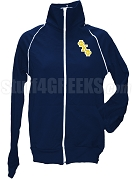 Phi Kappa Phi Ladies Logo Letter Track Jacket, Navy Blue