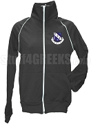 Phi Nu Kappa Greek Letter Track Jacket, Black