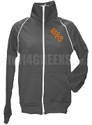 Phi Sigma Rho Logo Letter Track Jacket, Gray