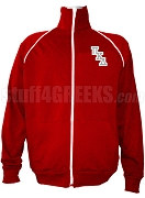 Pi Kappa Delta Men's Logo Letter Track Jacket, Red