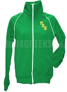 Sigma Alpha Logo Letter Track Jacket, Kelly Green