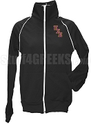Pi Sigma Epsilon Ladies Logo Letter Track Jacket, Black