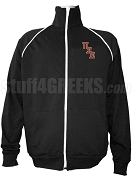 Pi Sigma Epsilon Men's Logo Letter Track Jacket, Black