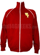 Psi Upsilon Logo Letter Track Jacket, Red