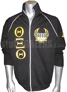 Theta Xi Theta Greek Letter Track Jacket with Crest, Black
