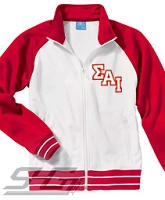 Sigma Alpha Iota Logo Track Jacket, White/Red - SOLD OUT