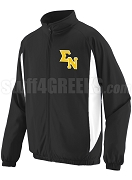 Sigma Nu Track Jacket with Logo Letters, Black