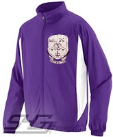 Sigma Lambda Beta Large Crest Track Jacket, Purple/White
