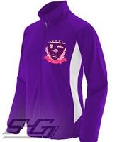 Sigma Lambda Gamma Large Crest Track Jacket, Purple/White