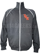 Tau Kappa Epsilon Track Jacket with Logo Letters, Gray