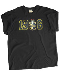 1906 with Alpha Crest Screen Printed T-Shirt, Black