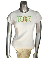 1908 with AKA Crest Screen Printed T-Shirt, White