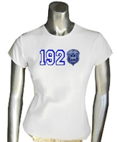1920 with Zeta Crest Scren Printed T-Shirt, White
