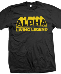 Alpha Living Legend Screen Printed T-Shirt