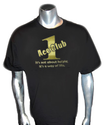 Black/Old Gold Ace Club (Generation 1) Screen Printed T-Shirt