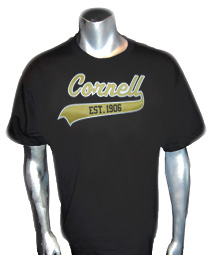 Cornell Est. 1906 Screen Printed T-Shirt (Alpha Founding School), Black