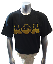Alpha Phi Alpha Half Letters Screen Printed T-Shirt