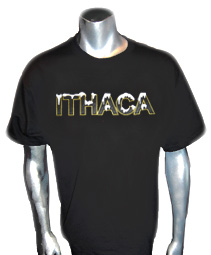 Ithaca Screen Printed T-Shirt, Black