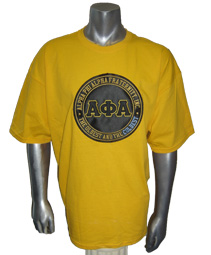 Oldest and the Coldest Screen Printed T-Shirt, Gold