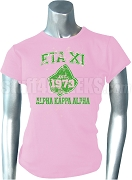 AKA Eta Xi Vintage Ivy Screen Printed T-shirt