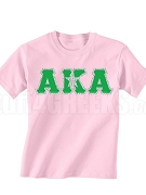 Alpha Kappa Alpha Silver Star Screen Printed T-Shirt - Pink