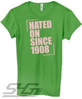 Hated On Since 1908, Leaf Green Screen Printed T-Shirt
