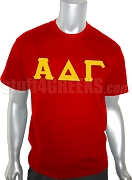Alpha Delta Gamma Screen Printed T-Shirt with Letters, Red