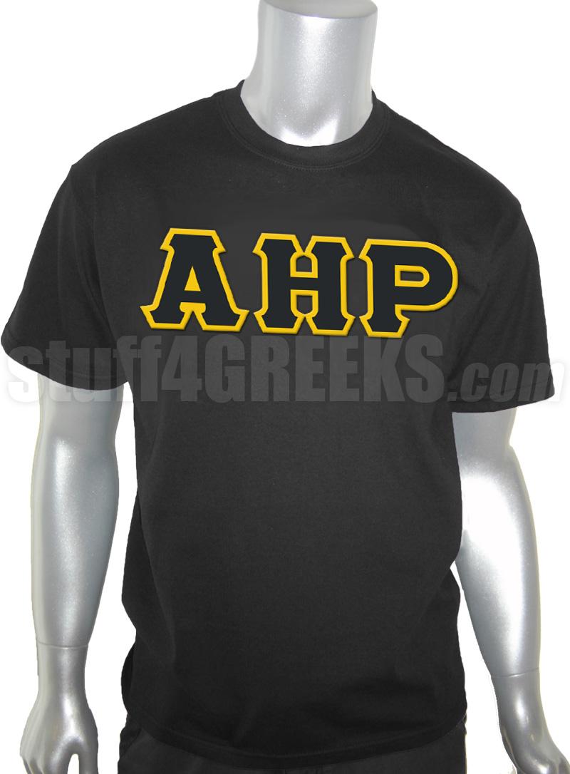 Alpha Eta Rho Mens Screen Printed T Shirt With Greek Letters Black