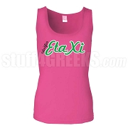 Do It For Eta Xi Hot Pink Tank Top, EMBROIDERED with Lifetime Guarantee