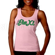 Do It For Eta Xi Screen Printed Tank Top, Pink