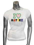Alpha Kappa Alpha I Heart Haterz Screen Printed T-Shirt, White