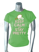 Alpha Kappa Alpha Keep Calm Screen Printed T-Shirt, Key Lime Green