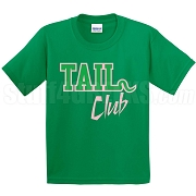 Tail Club Screen Printed T-Shirt, Kelly/Pink