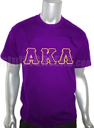 Alpha Kappa Lambda Screen Printed T-Shirt with Greek Letters, Purple