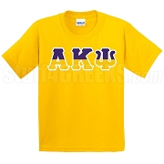 Alpha Kappa Psi Half Letters Screen Printed T-Shirt, Gold
