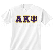 Alpha Kappa Psi Letters Screen Printed T-Shirt, White