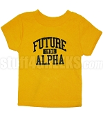 Future Alpha Phi Alpha Screen Printed T-shirt, Gold