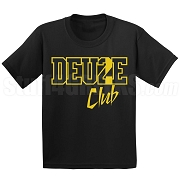 Deuce Club Screen Printed T-Shirt, Black/Old Gold
