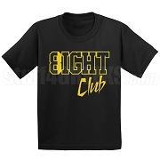 8/Eight Club Screen Printed T-Shirt, Black/Old Gold