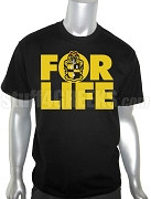 Alpha Phi Alpha FOR LIFE Screen Printed T-Shirt, Black