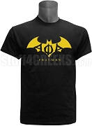 Alpha Phi Alpha Frat Man Metallic Foil Screen Printed T-Shirt with Greek Letters, Black
