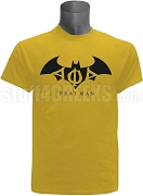 Alpha Phi Alpha Frat Man Screen Printed T-Shirt with Greek Letters, Old Gold