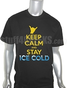 Alpha Phi Alpha Keep Calm Screen Printed T-Shirt, Black