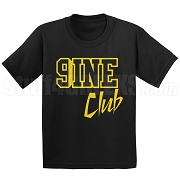 9/Nine Club Screen Printed T-Shirt, Black/Old Gold