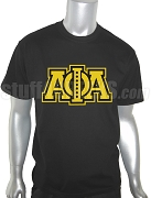 Alpha Phi Alpha Triple Layered Greek Letter Screen Printed T-Shirt with Jewels, Black